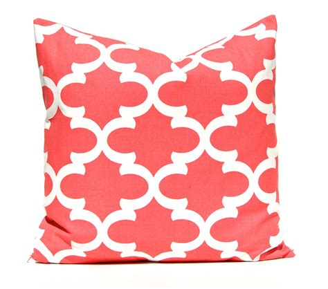 Coral Toss Pillows by Coral Pillow Decorative Pillow Throw Pillow Coral Pillow
