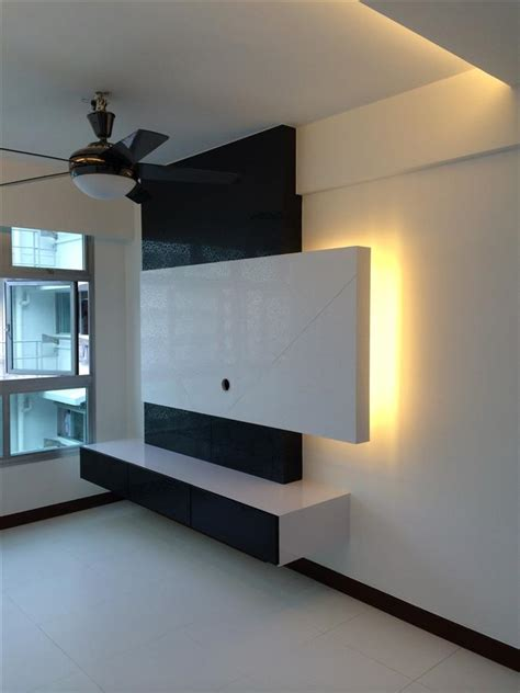 tv console tv feature wall simple closet  pte  page