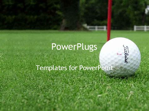 Powerpoint Template Golf Ball Next To Hole On Green Golf Golf Powerpoint Template