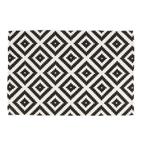 teppich geometrische muster 80 x 120 cm l 228 ufer schwarz - Teppich 120 X 80