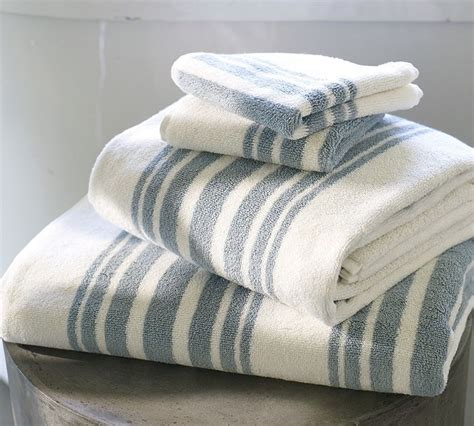 Modern Bathroom Towels Riviera Stripe Organic Bath Towels Contemporary Bath