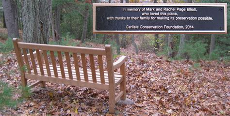 bench outreach carlisle conservation foundation letter