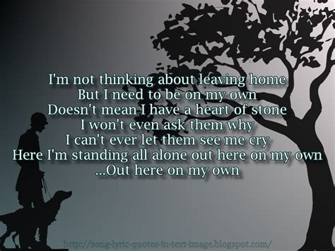 song lyric quotes in text image on my own alanis