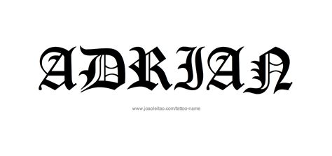 adrian tattoo adrian name designs
