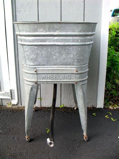 galvanized wash tub galvanized wash tub stand for the home pinterest