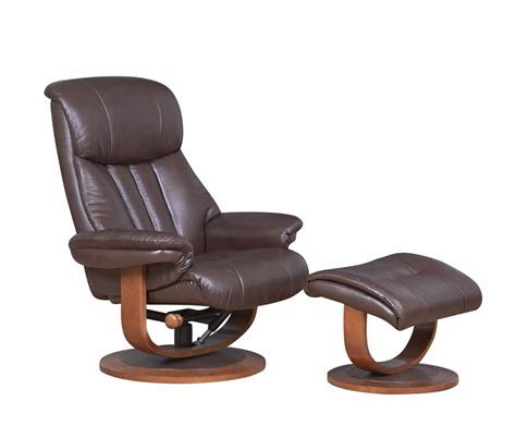 leather recliner chair and stool chingford brown bonded leather swivel chair and foot stool