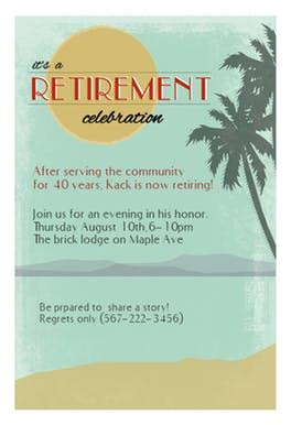 retirement invitation card template its a retirement celebration free retirement farewell