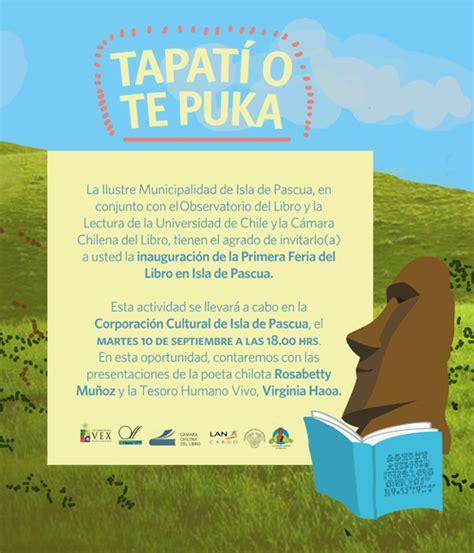 libro la isla de las isla de pascua se prepara para su primera feria del libro universidad de chile