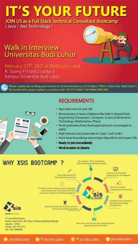 101 Hadits Tentang Budi Luhur walk in pt xsis mitra utama fakultas teknologi informasi universitas budi luhur