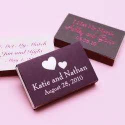 Matches Favors by Classic Wedding Matches Personalized Matches
