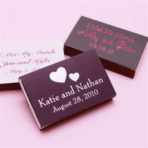Wedding Favors Matches by Classic Wedding Matches Personalized Matches