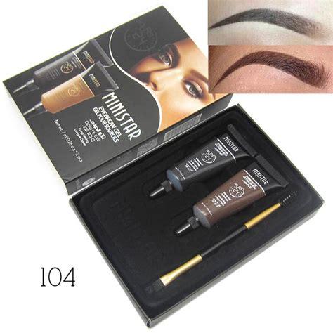 Tato Tint Eyebrow Spidol Mascara Waterproof 1 2pcs brown waterproof tint eyebrow henna with mascara