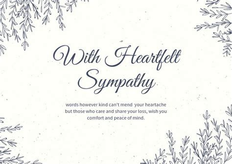 Customize 111  Sympathy Card templates online   Canva