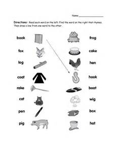 rhyming worksheets rhyming words pdf word work