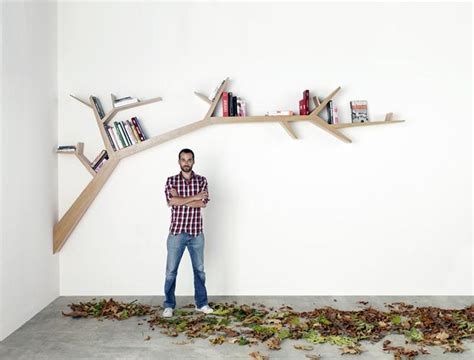 library tree branch bookshelf by olivier dolle redesign report