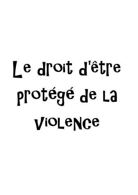 le droit la 2717857087 le droit d 234 tre prot 233 g 233 de la violence