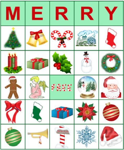printable bingo cards for christmas holidays pinterest