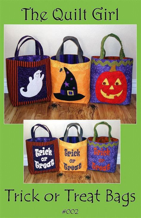 Halloween Trick Or Treat Bags Craft - halloween trick or treat bag pattern from the quilt by builderbugs 9 00 crafts