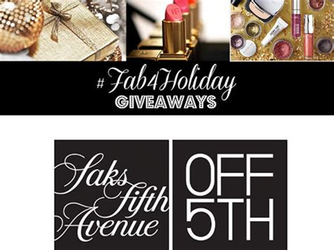 Saks Off Fifth E Gift Card - fab4holiday giveaway day 4 win saks off fifth gift cards plus holiday party picks