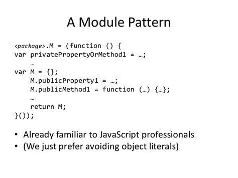 javascript literal pattern modeling patterns for javascript browser based games