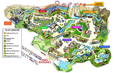 six flags texas map san antonio map