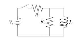 inductor closed circuit a time after the switch is closed the circuit chegg