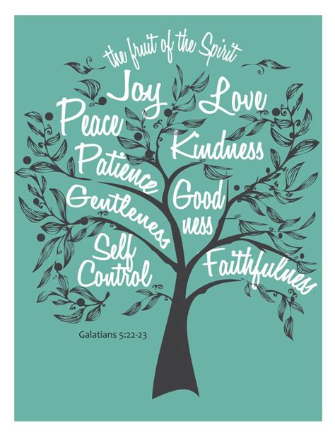 9 fruit of the spirit fruit of the spirit digital diy wall graphics of