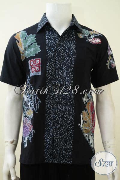Kemeja Santai Buat Kuliah Ngantor kemeja batik hitam proses cap tulis dengan motif modern anak muda banget pakaian batik lengan