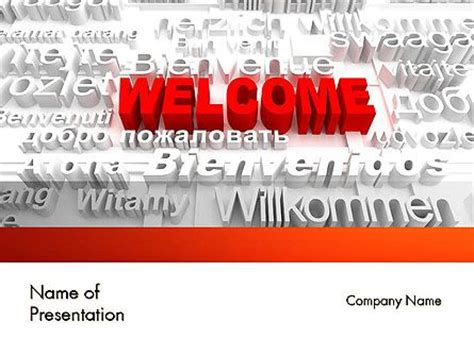 welcome powerpoint template 121 best business concepts presentation themes images on