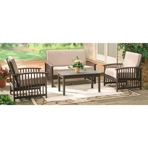 4 pc deluxe outdoor deep seating set 152044 patio