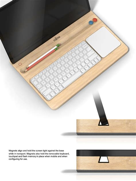 designboom wooden keyboard tray by robert matthew swinton fujitsu design award