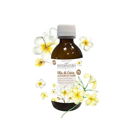 fiore di tiare olio di cocco ai fiori di tiar 232 maternatura 150 ml per