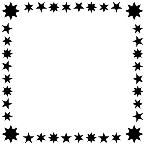 printable star frames star borders and frames pictures to pin on pinterest