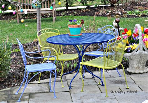 Painting Patio Furniture Ideas by Serendipity Refined Wicker And Wrought Iron Patio