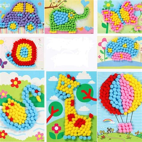 Creative Handcraft - drawing creative handcraft plush painting with fold
