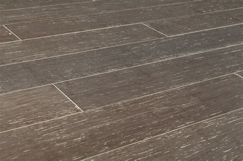 Grey Bamboo Flooring by Yanchi Bamboo Strand Woven Wire Brushed Collection