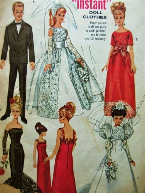 vintage mccalls pattern vintage mccall s 6992 sewing pattern 1960s barbie clothes