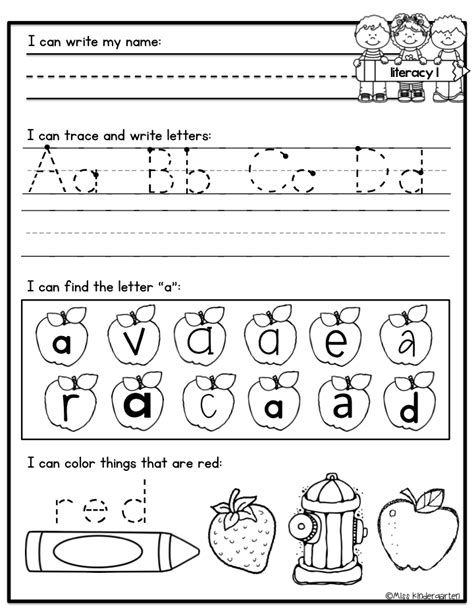 Work For Kindergarten Worksheets by 13 Best Images Of Morning Work Worksheets Morning Work