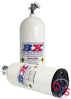 Speaker Subwoofer Nitrous bazooka nos8w 8 quot subwoofer white nitrous bottle at onlinecarstereo