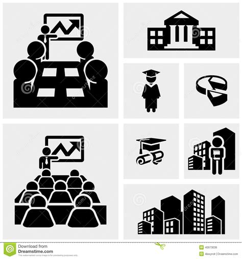 Office And Business Vector Icons Set On Gray Royalty Free Stock Images Image 33973149 Business Vector Icons Set On Gray Stock Vector Image 40973036
