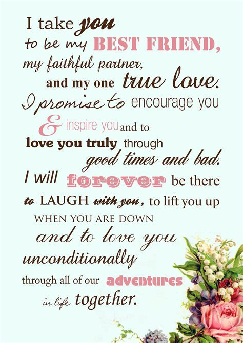Beautiful wedding vows instead of the traditional by the