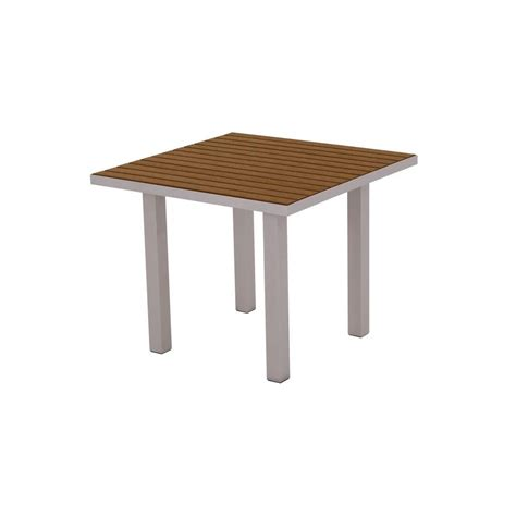 polywood textured 36 in silver square patio dining
