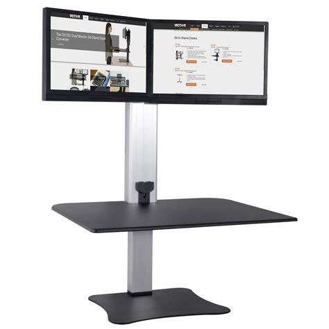 dual monitor standing desk converter standing desk converter dual monitor heat monitor stand