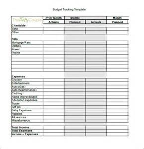 Budget Tracking Template by Budget Tracking Template 6 Free Sle Exle Format