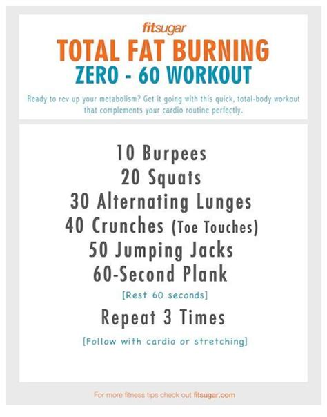 burning workout random ideas