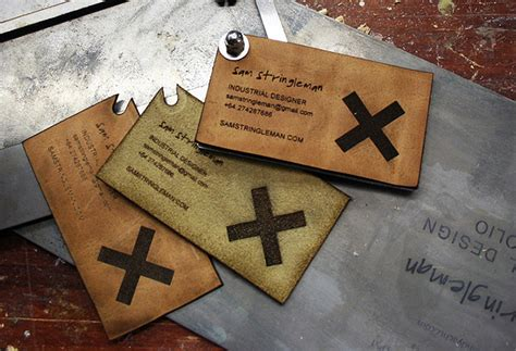 Leather Business Cards