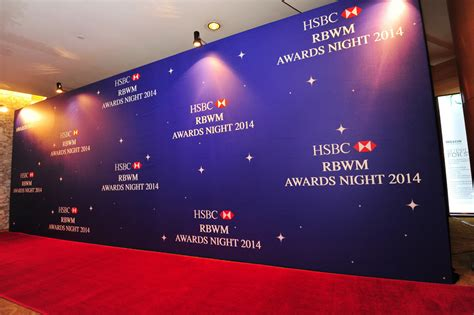 backdrop design for annual dinner hsbc rbwm awards night egg events event management company