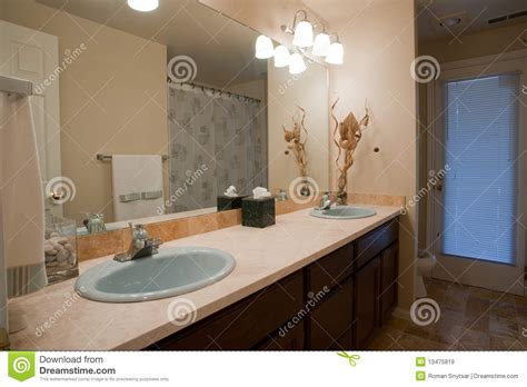 Large Mirror Bathroom Luxurious Bathroom With Large Mirror Royalty Free Stock Images Image 13475819