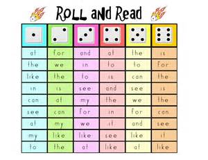 sight word practice for word work roll and read an