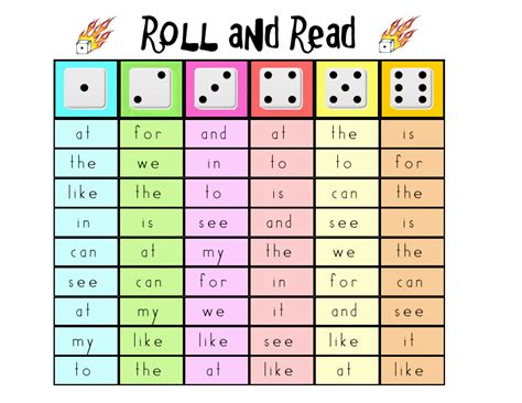 free templates for word games sight word practice for word work roll and read an